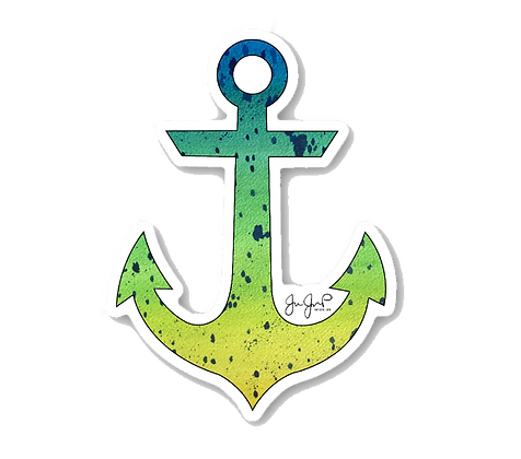 Mahi Anchor Sticker