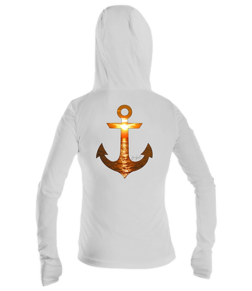 Ladies Sunset Anchor Performance LS Hoodie