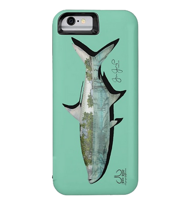 Mangrove Tarpon on Mint Battery IPhone 6 Case