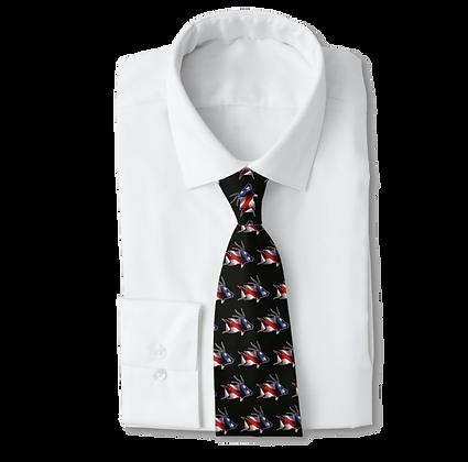 Black USA Hogfish Men's Work Tie