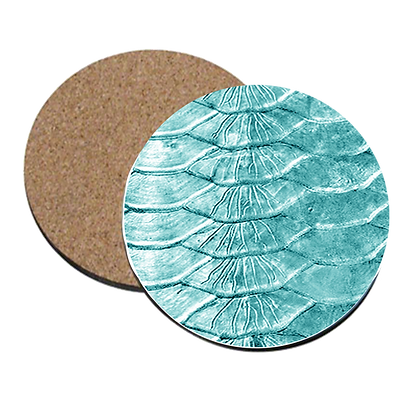 Teal Tarpon Scales Coaster