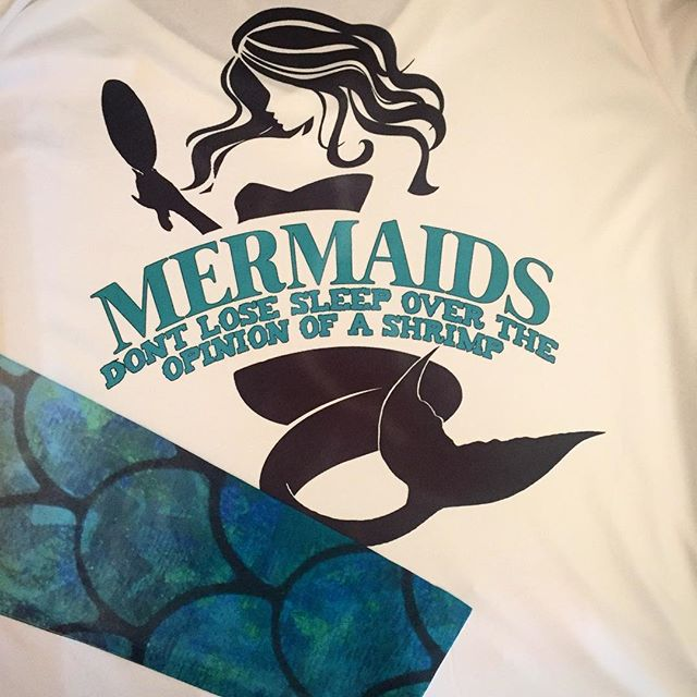 Who's a mermaid and wants to show it_ New mermaid sleeve shirts being printed as we speak