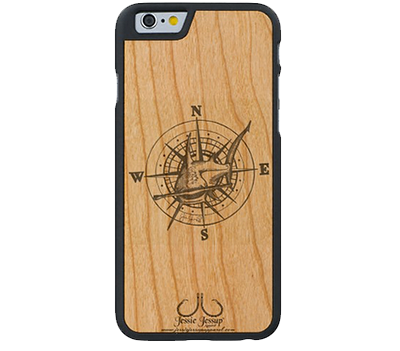 Hammer Compass Wood Extreme Phone Case