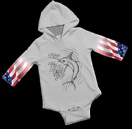 USA Marlin Baby Onesie
