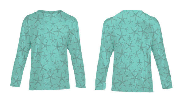 Youth Teal Starfish Performance LS