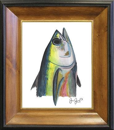 Tuna Head On Canvas