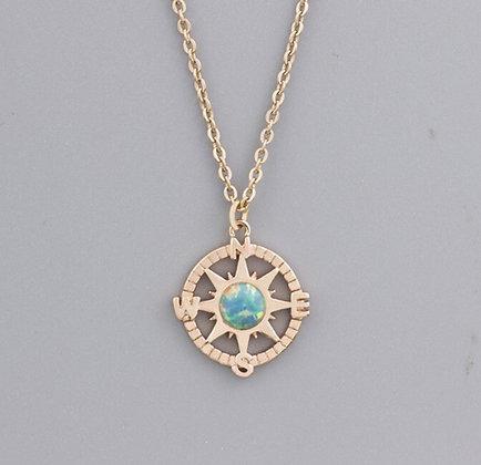 Opal Compass Necklace