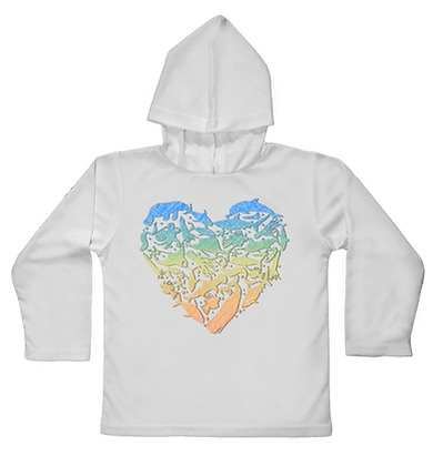 Sea Love Hooded Toddler LS