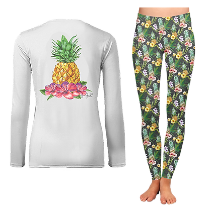 Ladies Tropical Pineapple LS SET