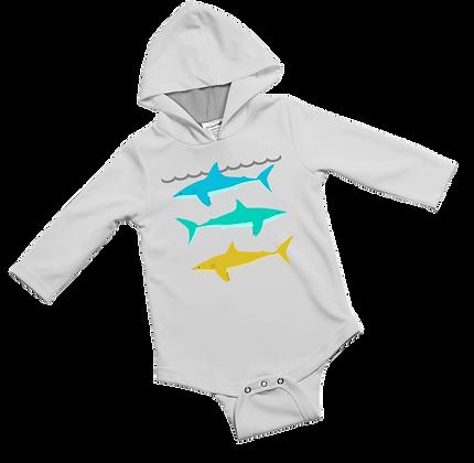 Reef Sharks Baby Onesie