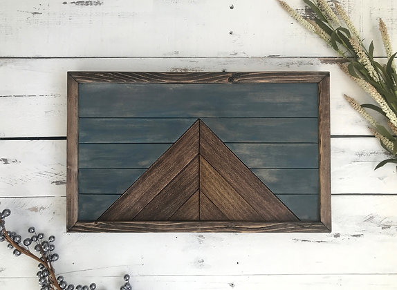 Mountain peak wall art