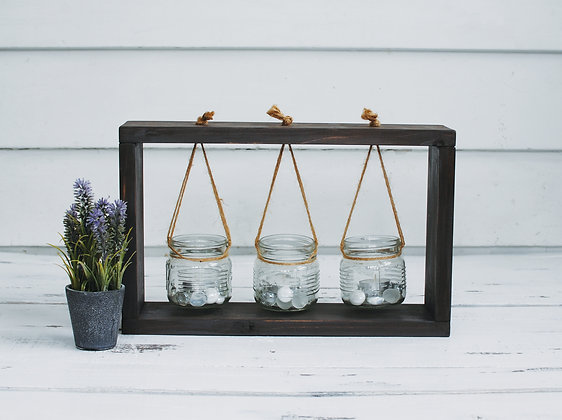 Hanging Succulent/Herb/Candle Frame