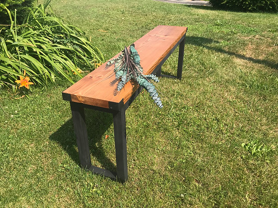 Faux industrial bench