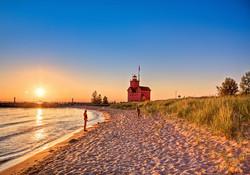 Beach & Big Red