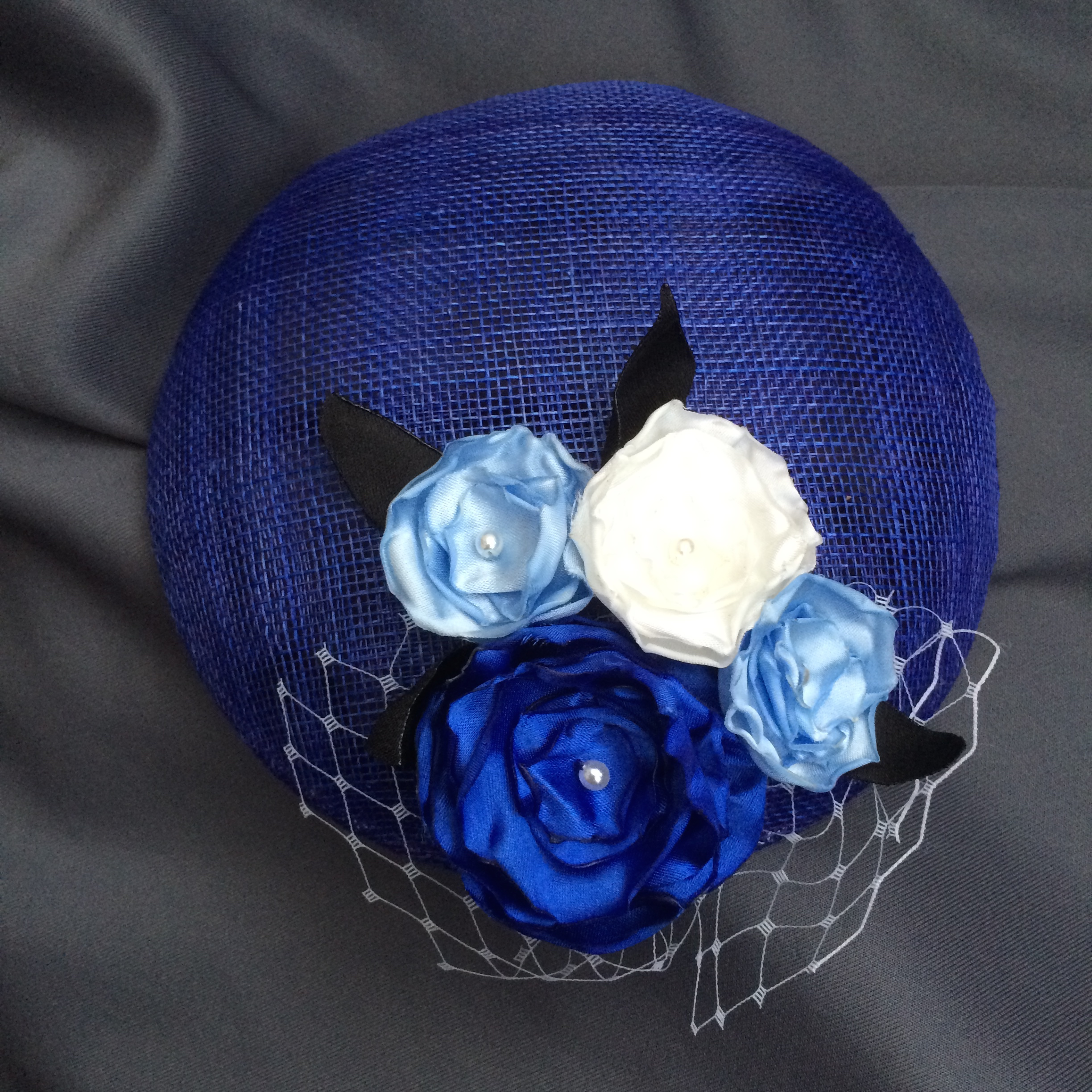 Bespoke blue cocktail hat