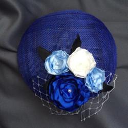 Bespoke blue cocktail hat