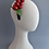 Thumbnail: Navy Velvet Headband with Vintage Red Berries