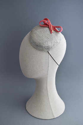 Silver and Coral Occasion Hat