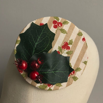 Pin Stripe Holly Fascinator