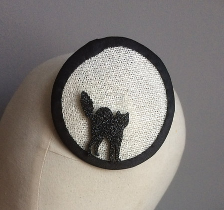 Black Cat Fascinator