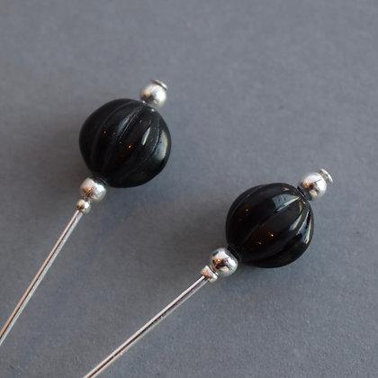 Black Vintage Style Pin