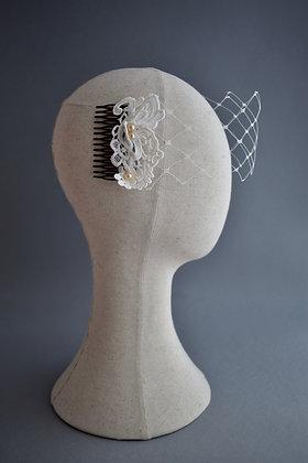 Ivory Lace Bandeau Veil