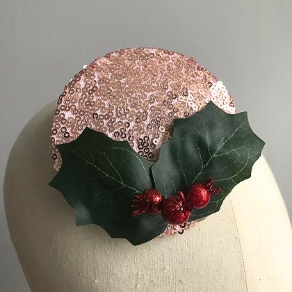 Rose Gold Holly Fascinator