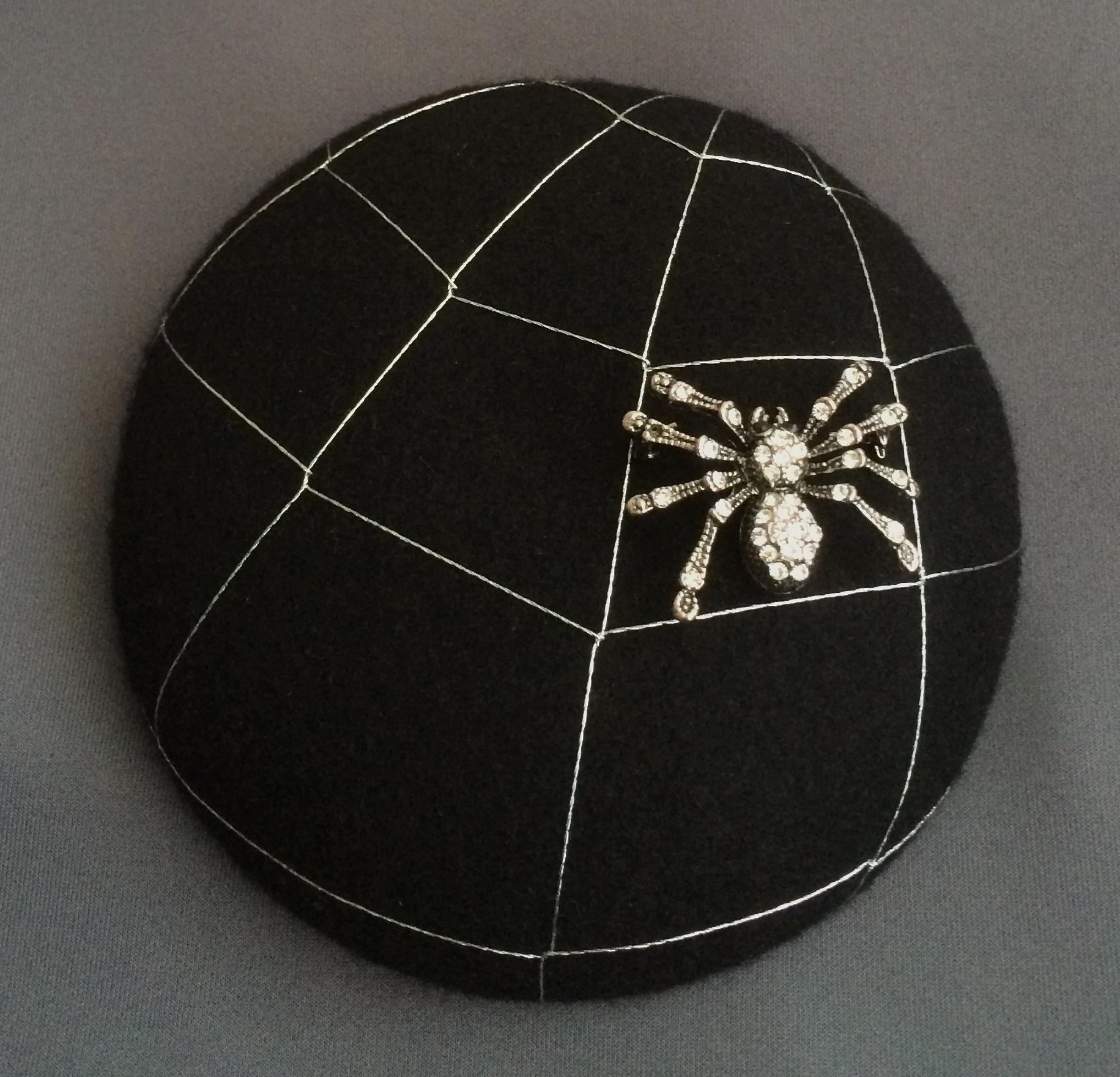 Bespoke gothic spider hat