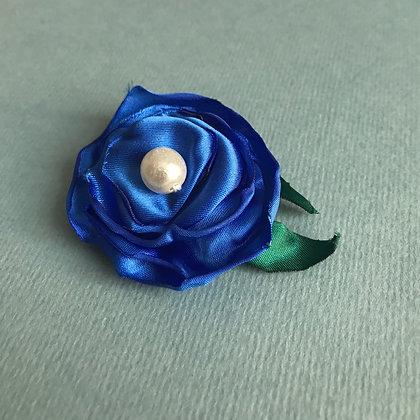 Royal Blue Rose Hair Clip