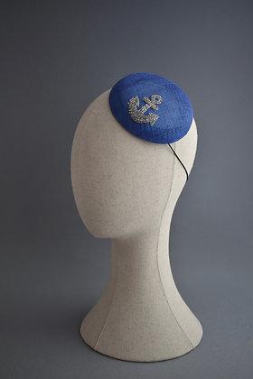 Nautical Royal Blue Percher Hat
