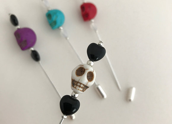 Skull & Hearts Lapel Pins