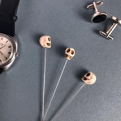 White Skull Pin