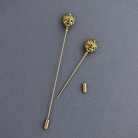 Gold Heart Hat Pin, gold heart lapel pin