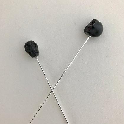 Black Skull Pin