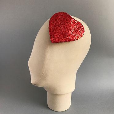 Red Heart Sequin Fascinator