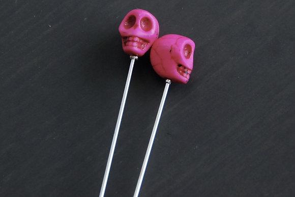 Bright Pink Skull Pin