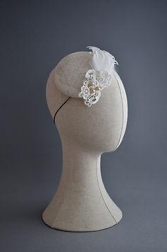 Vintage Wedding Headpiece with Pearls, L