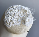 Bridal Headwear - ivory with lace and ve