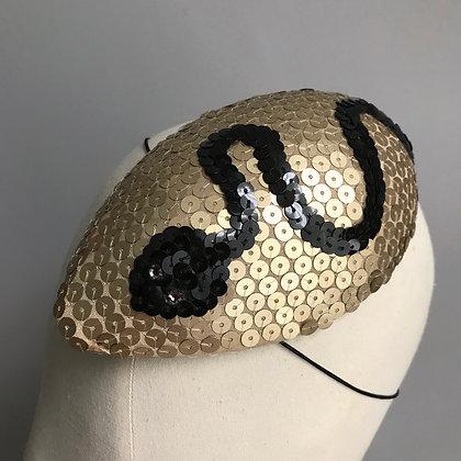Art Deco Serpent Cocktail Hat