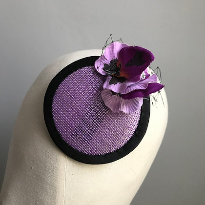 Purple Pansy Fascinator