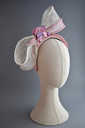 Sugar & Spice Pink & White Statement Bow