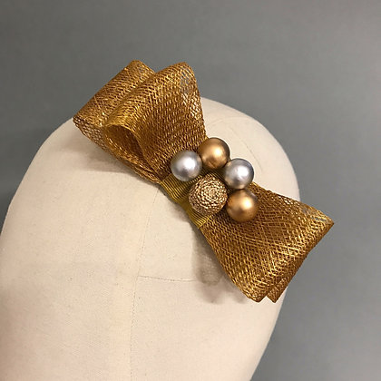 Gold Statement Hair Bow
