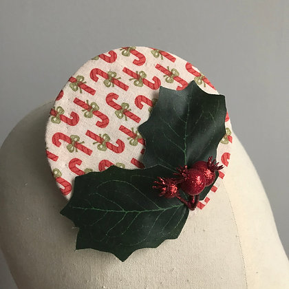 Candy Cane Fascinator