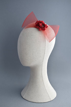 Red Rose Statement Hair Bow