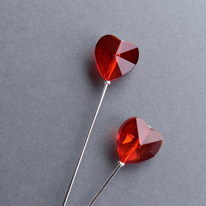 Red Heart Hat Pin & Lapel Pin