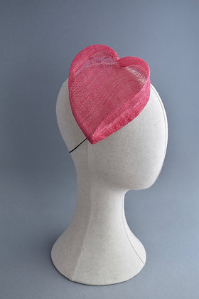 Pink Heart Shaped Pillbox Hat