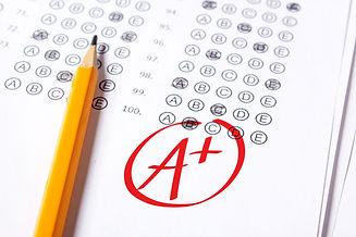 Good grade of A plus (A+) is written wit