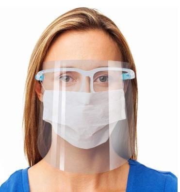 Face Shield on Glasses Frames, Set of 5