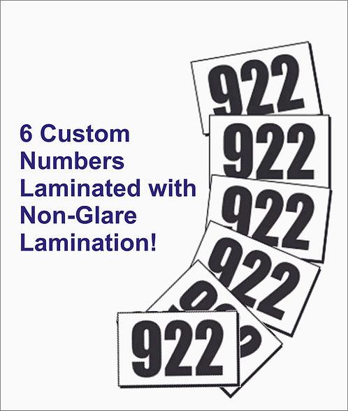 Individual Custom Back Numbers
