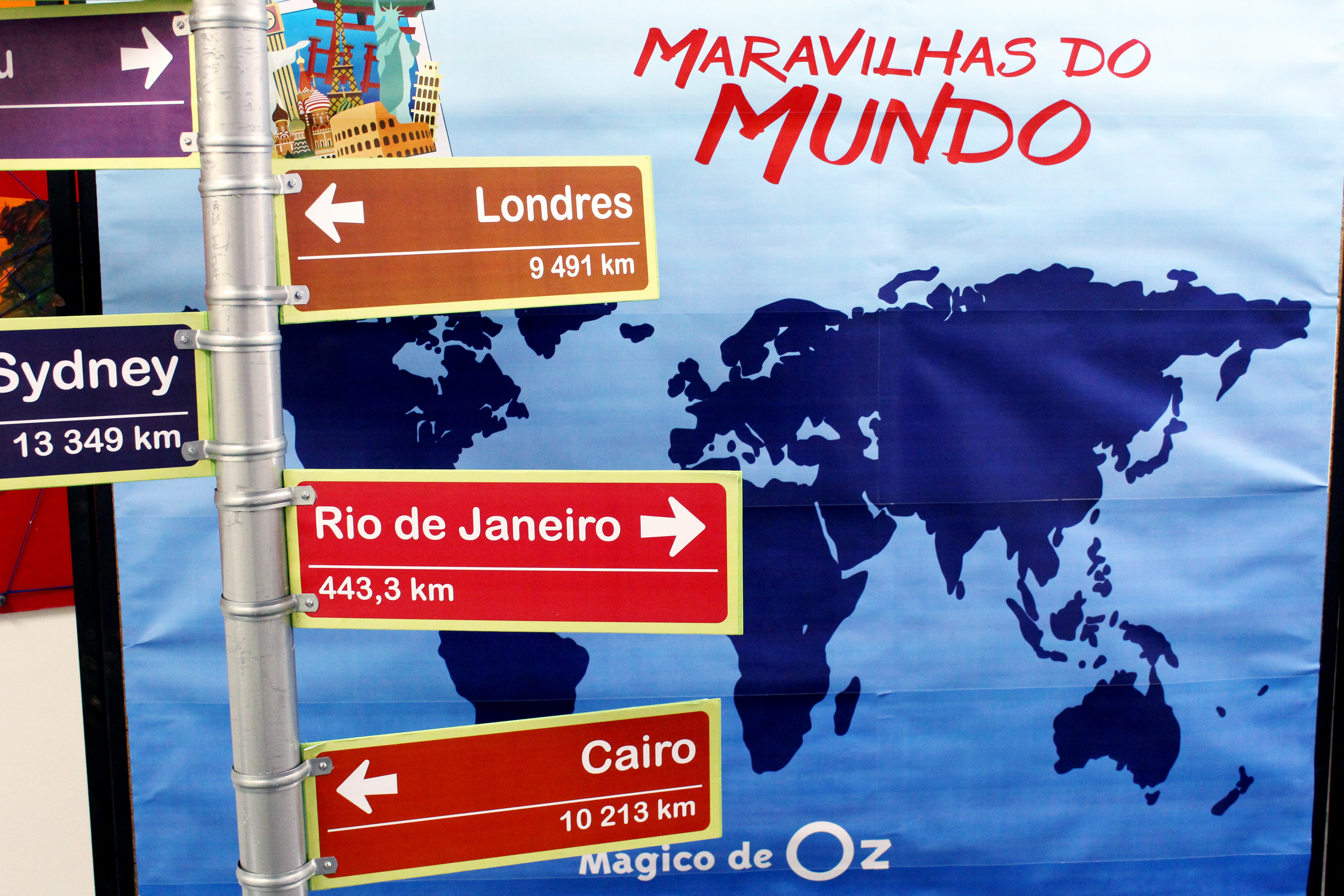 Colegio Magno Magico De Oz Maravilhas Do Mundo